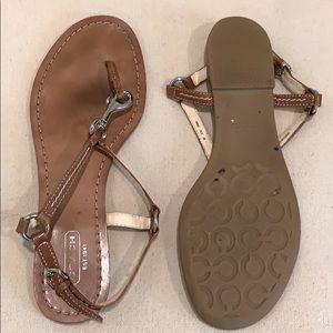 COACH Horse Bit Thong Sandals